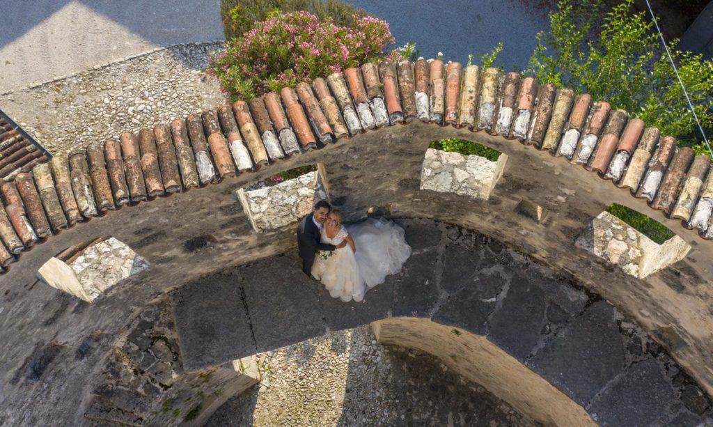 Riprese matrimonio con drone