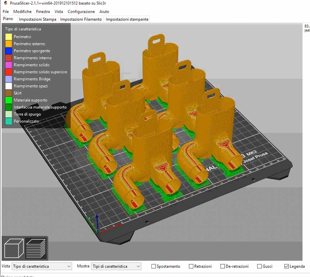Immagine stampa 3D coronavirus